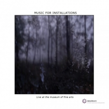 Music For Installations - Live At The Museum Of Fine Arts - cover Databloem cd